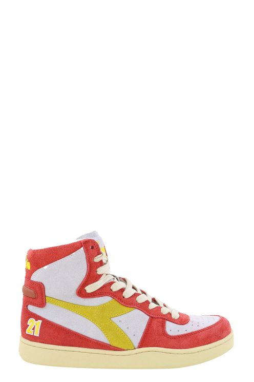 Sneakers Mi Basket . Wit/rood