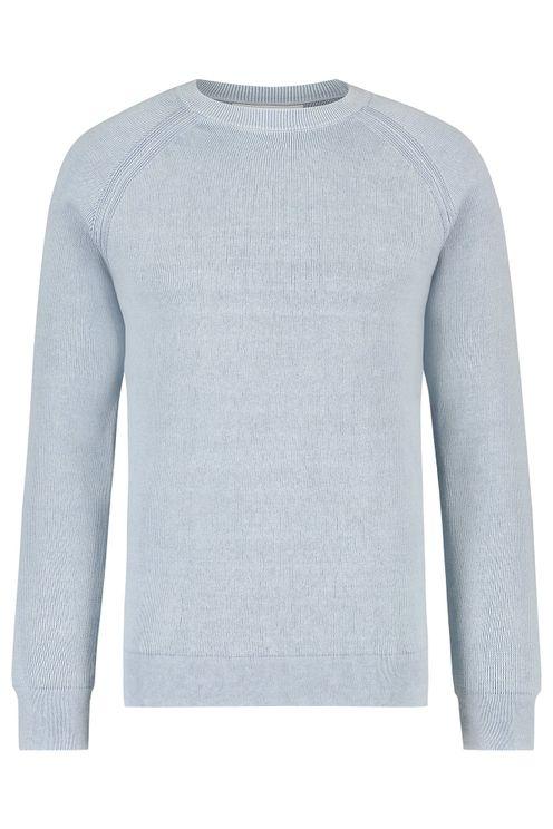Knitted Raglan Sweater - Blue
