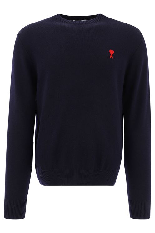 Ami Men's Blue Wool Sweater