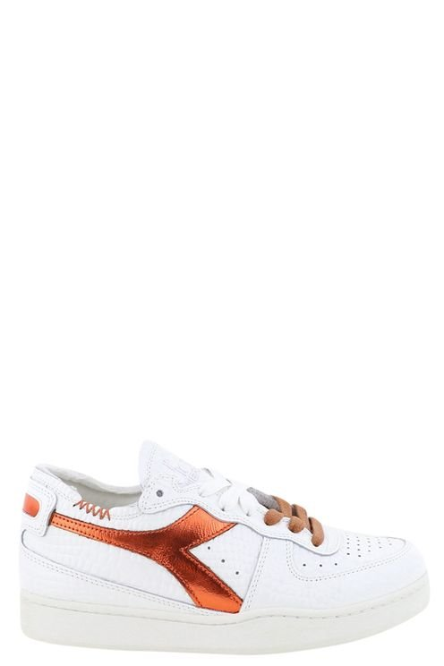 Sneakers Mi Basket Row Cut . Wit/cognac