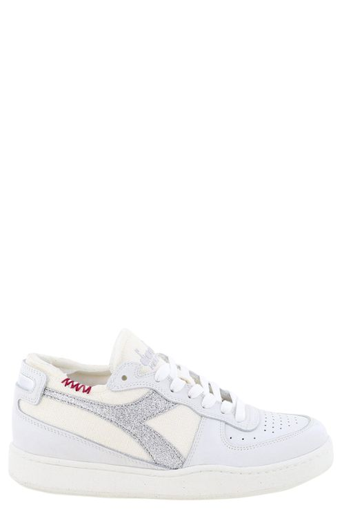 Sneakers Mi Basket Row Cut . Wit/zilver
