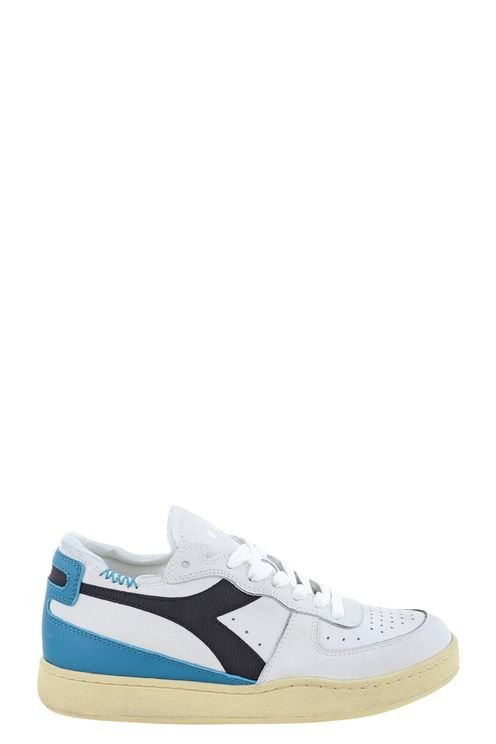 Sneakers Mi Basket Row Cut . Wit/blauw