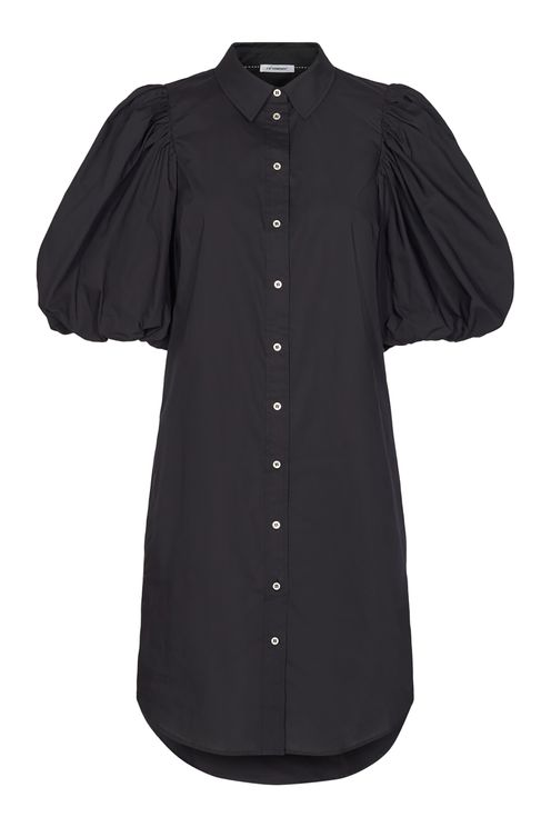 Collie puff sleeve dress, black