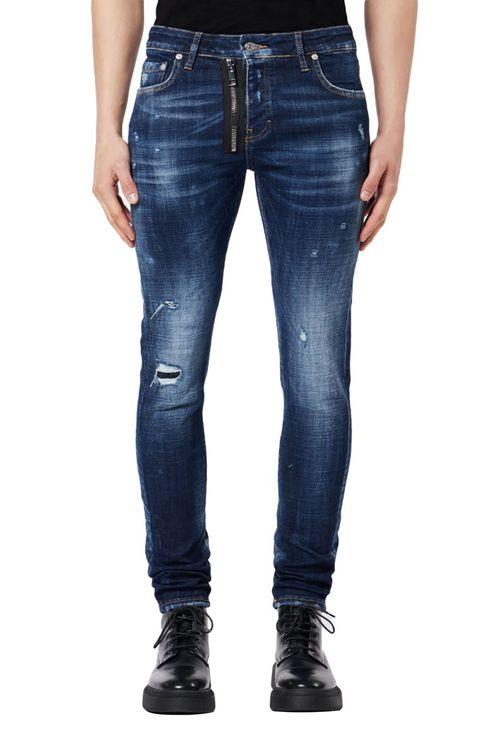 Dark Denim Zipper Jeans