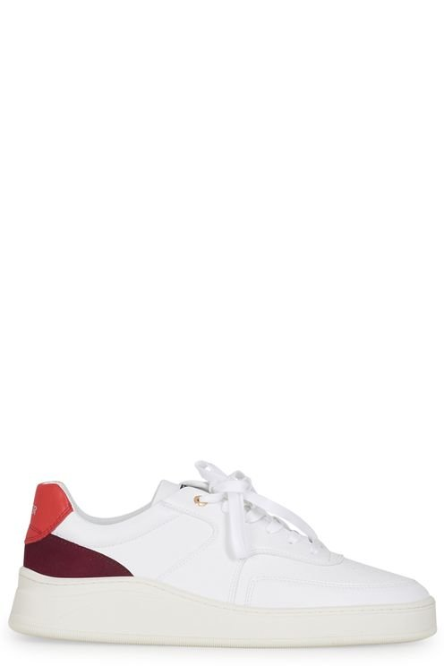 Lowtop Napa Suede white 'n red