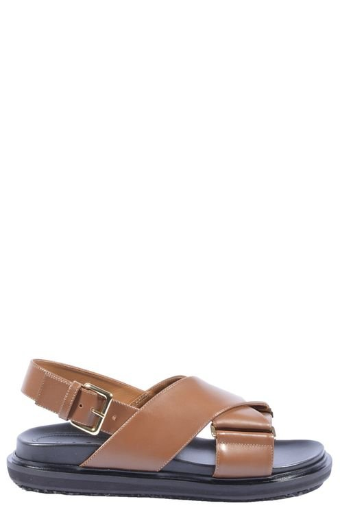 Women's Brown Leather Sandals