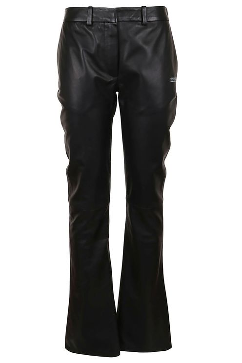 Tailored Fitted Leather Pant
