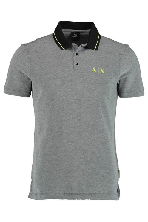 Armani Exchange Polo grijs Regular Fit 3KZFAC.ZJKUZ/6259