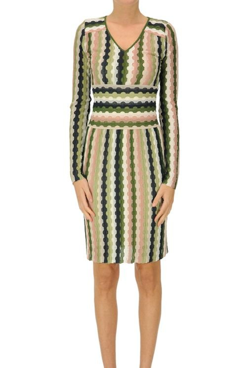 Textured Knit Sheath Dress