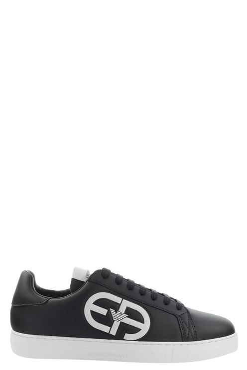 Emporio armani black sneaker with maxi logo