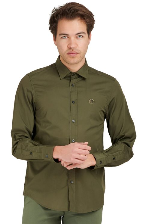 long-sleeved poplin shirt