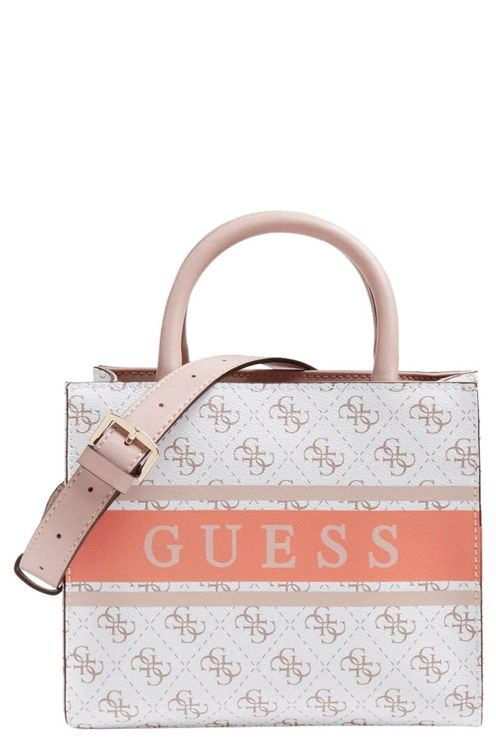 Monique Mini Tote White/coral
