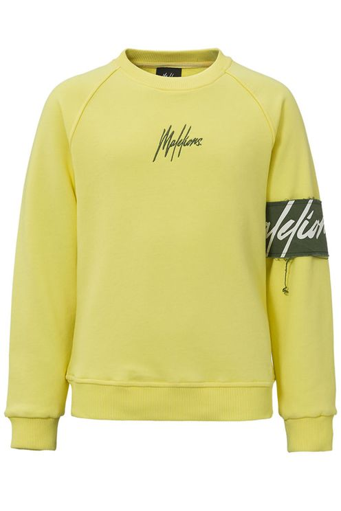 Junior Captain Crewneck-Yellow/Army