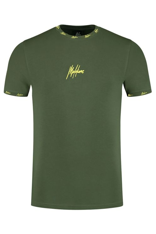 Junior T-shirt Gini - Army/Yellow