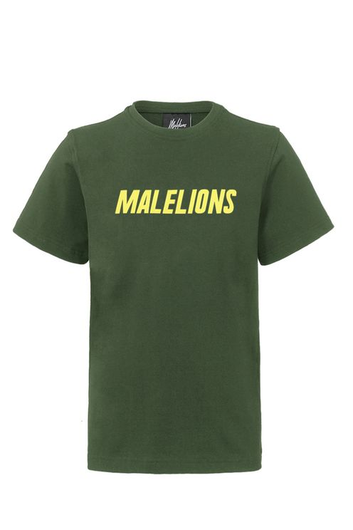 Junior T-shirt Nium - Army/Yellow