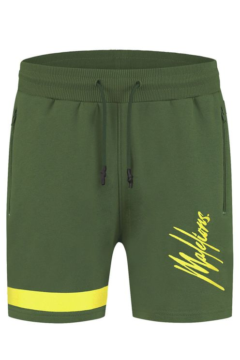 Junior Trackshort Pablo-Army/Yellow