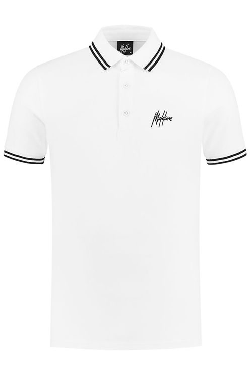 Junior Striped Polo - White/Black
