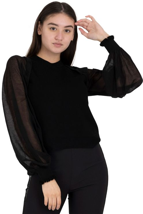removable sleeve knit top