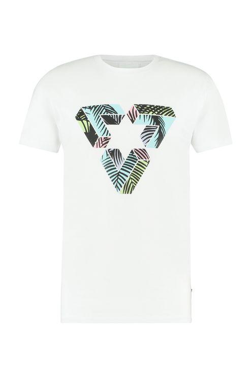 3D Triangle T-shirt - White