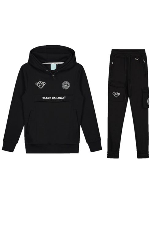 Black Bananas Anorak Trainingspak Black Kids