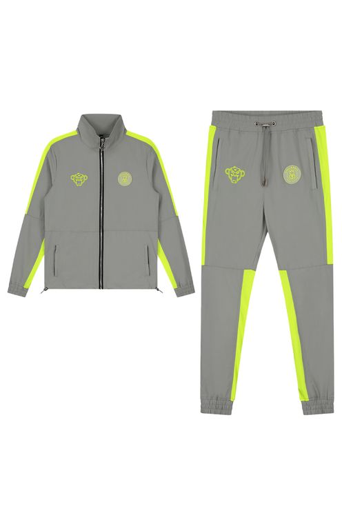 Jr Vital Tracksuit Grey/Neon Yellow