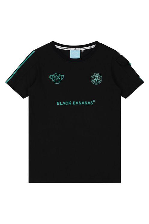 Jr Unity Tee Black/Aqua