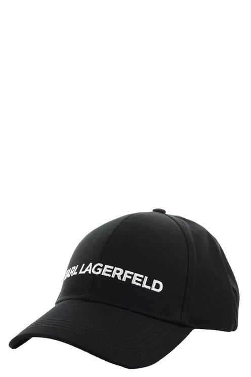 Karl Essential Logo Black Baseball Cap Black