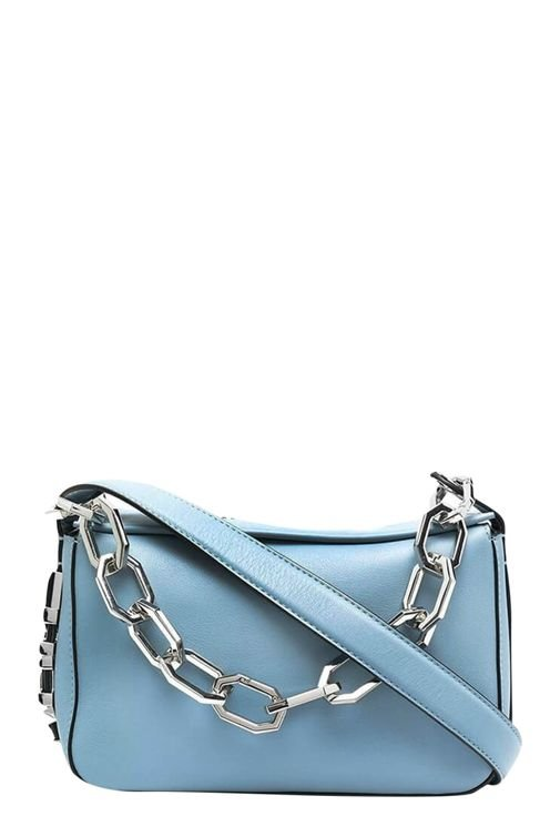 K/letters Light Blue Shoulder Bag Blue