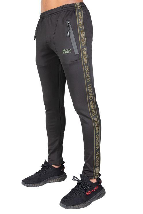 Lyon track pants - zwart/groen