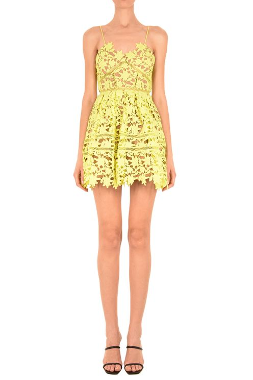 Lime Azaelea Mini Dress