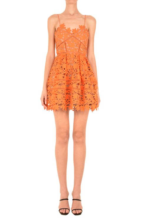 Orange Azaelea Mini Dress
