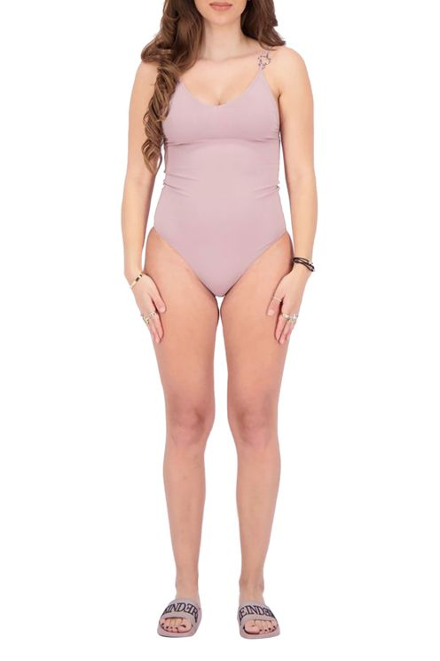 Swim Suit Headlogos Solid Color
