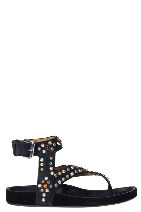 Embellished suede sandals