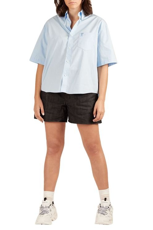 Blue Shirt Short Sleeves