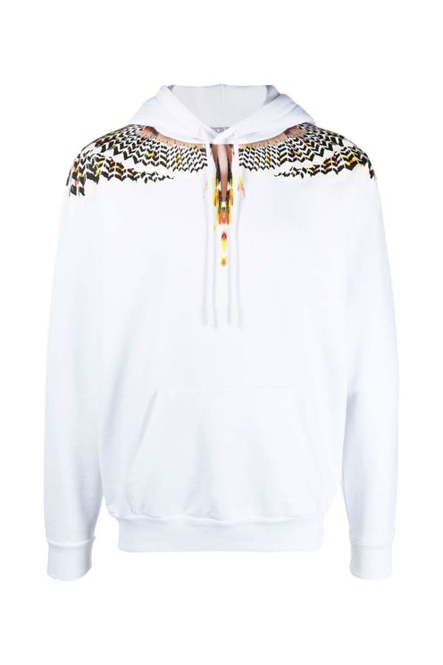 Hoodie Regular Wings White