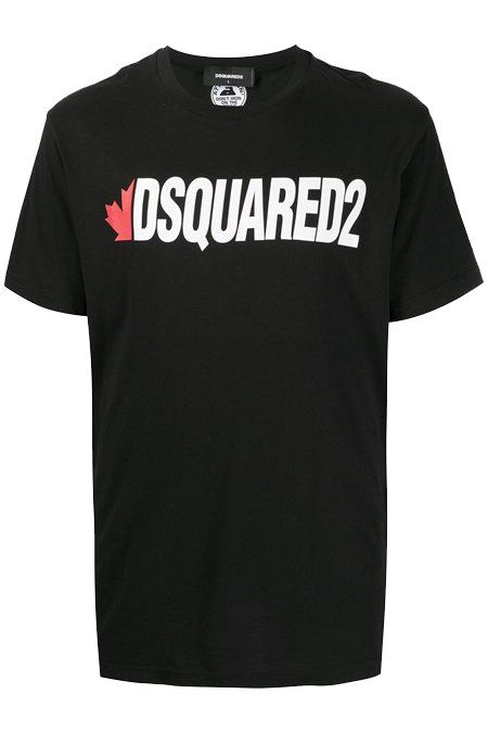 Dsq2 Black on white tee letters