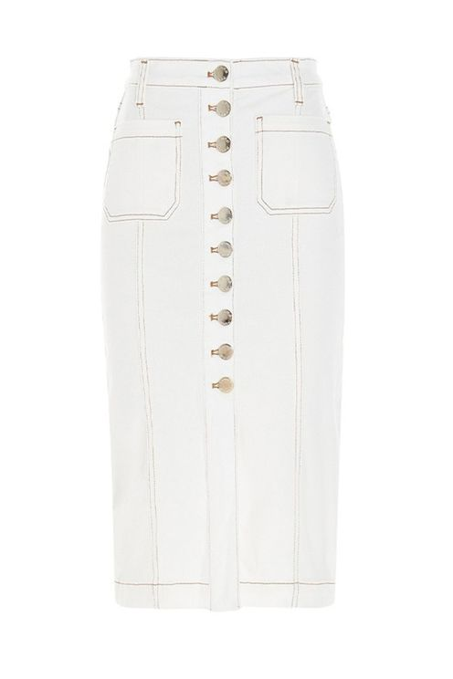 Pinko bruna 1 white midi-lenght skirt