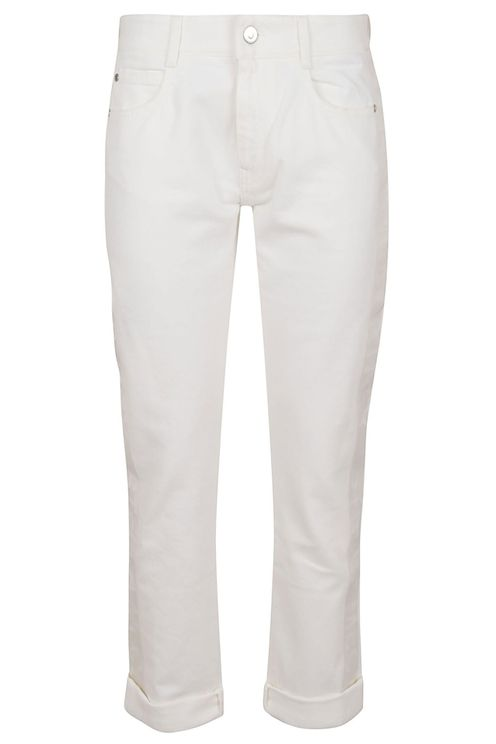Logo Story On White Trousers