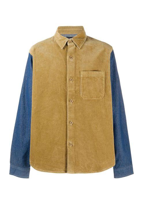 Corduroy Denim Mix Shirt