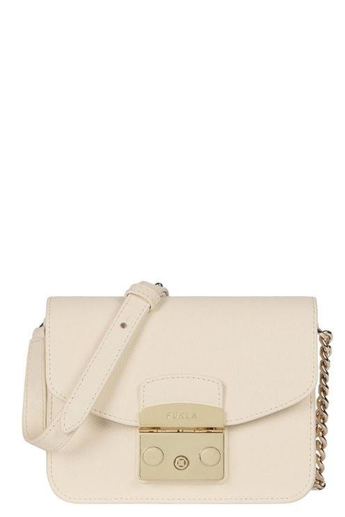 Metropolis S Cream Crossbody Bag White