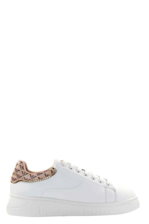 Emporio armani white nude sneaker