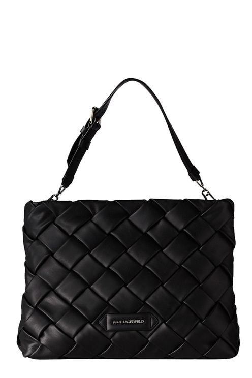 K/kushion Braid Black Shopping Bag Black