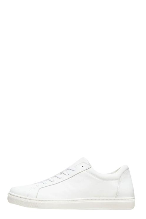 Leather Trainers White