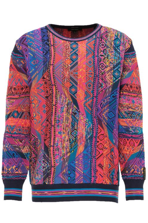 Jacquard Sweater Navy