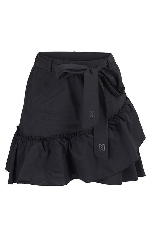 Suzy Ruffle Black Skirt