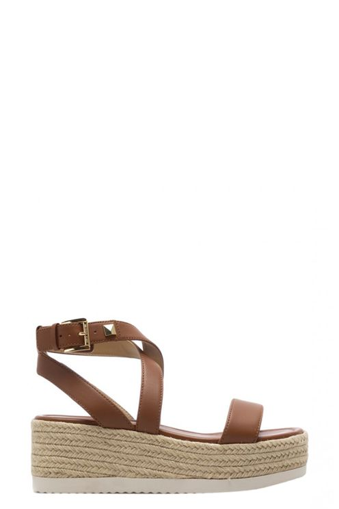 Michael Sandals Leather Brown
