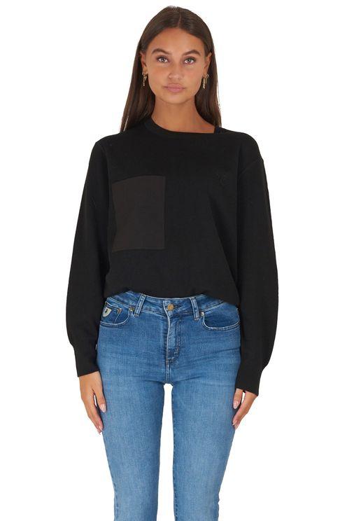 Zwarte oversized pullover