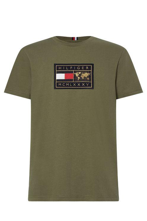 T-shirt Icon Earth Badge Groen