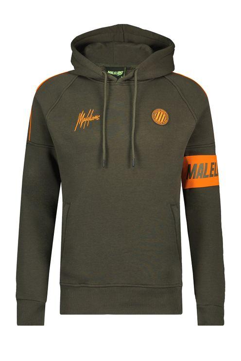 Sport Coach Hoodie - Army/Orange