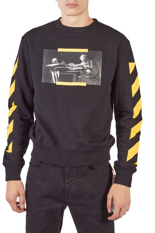 Black And Yellow Sweatshirt Printed